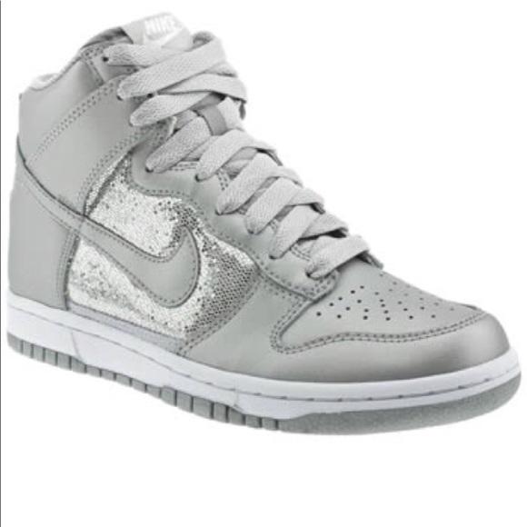 Nike Shoes | Nike High Top Silver Gray